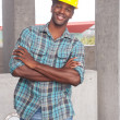 African American construction worker - Stock Photo