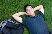 Young male asian student — Stock Photo