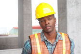 African American construction worker — Stockfoto