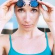 Stock Photo: Athetlic female swimmer