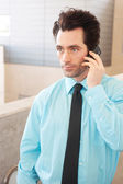 Executive on cell phone — Stock Photo