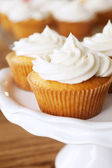 Cupcakes with white frosting — Stock Photo