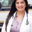 Portrait of young female doctor — Stock Photo