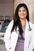 Portrait of a young female doctor — Stock Photo