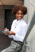 Pretty African American executive — Stock Photo