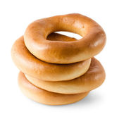 Stack of bagels — Stock Photo