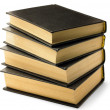 Stock Photo: Stack of old black books