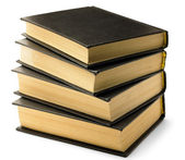 Stack of old black books — Stock Photo