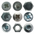 Screw heads collection — Stock Photo