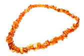 Amber necklace — Stockfoto