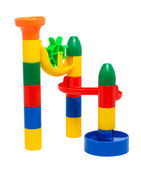 Plastic children's toy slide for marbles — Stock Photo