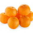 Stock Photo: Tangerines isolated on white background