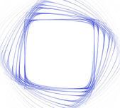 正方形のブルー フレーム — ストック写真