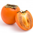 Fresh persimmon on white background — Stock Photo