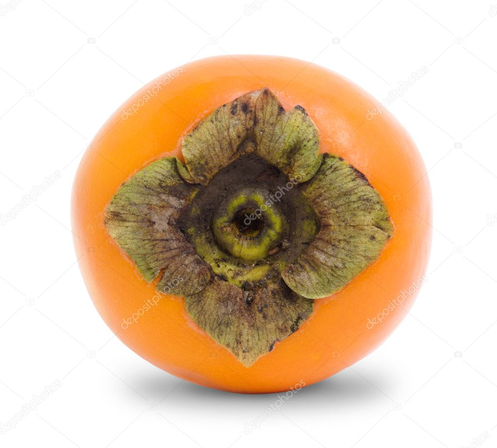 Fresh persimmon on white background — Stock Photo #9839253