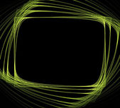 Green frame of rectangle shape — Foto Stock