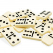 Chaotic heap of dominoes — Stock Photo