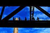 Climbers on Harbour Bridge, Sydney — Stock Photo