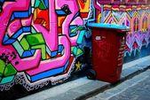 Graffiti urbano en melbourne — Foto de Stock