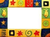 A colourful picture frame — Stock Photo