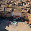 Siena, Piazza del Campo - Stock Photo