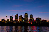 Sydney skyline by night — Stock Photo