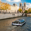 Stock Photo: Notre Dame, Paris, from Seine river