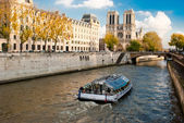 Notre Dame, Paris, from Seine river — Stock Photo
