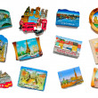 Royalty-Free Stock Photo: European Capitals Magnets