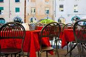 Italian restaurant dehors — Stock Photo