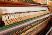 Open upright piano mechanism — Stock fotografie