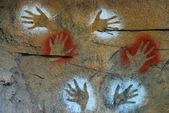 Aboriginal paintings - Australia — Stock Photo
