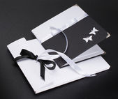 Gift black-and-white packing — Stock Photo