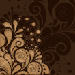 Chocolate colours ornament — Stock Vector #9752938