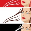 Royalty-Free Stock Vector Image: Fashion banners set