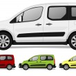 Stock Vector: Minivan