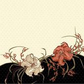 花のポストカード — ストックベクタ