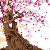 Sakura tree — Stock Vector