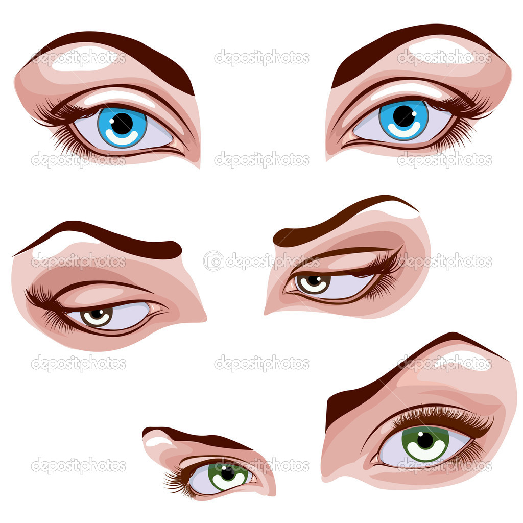 Female eyes set — Stock Vector #9753163