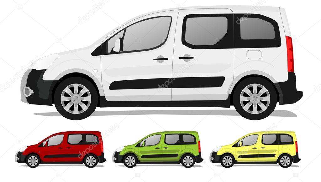 小型货车 — 图库矢量图像08