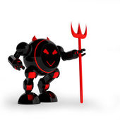 Daemon robot — Stock Photo