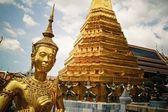 Golden kinnari Grand Palace Bangkok — Stock Photo