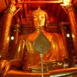 Golden Budda in Ayuthaya - Stock Photo