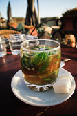 Maroccan mint tea — Stock Photo