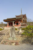 Entrance of Kiyomizu-dera temple, Kyoto, Japan. — Stock Photo