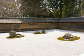 Rock garden in Ryoan-ji temple, Kyoto, Japan. — Stock Photo