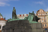 Monument for Jan Hus in Prague — Stock Photo