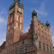 Town Hall of Gdansk town — Stock Photo #9700808