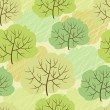 Royalty-Free Stock Vector Image: Vector trees seamless pattern (Abstract green background)