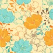 Royalty-Free Stock Vector Image: Vector background with hand drawn flowers. (Seamless Pattern)